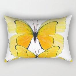 MODERN ART YELLOW BUTTERFLIES ABSTRACT Rectangular Pillow