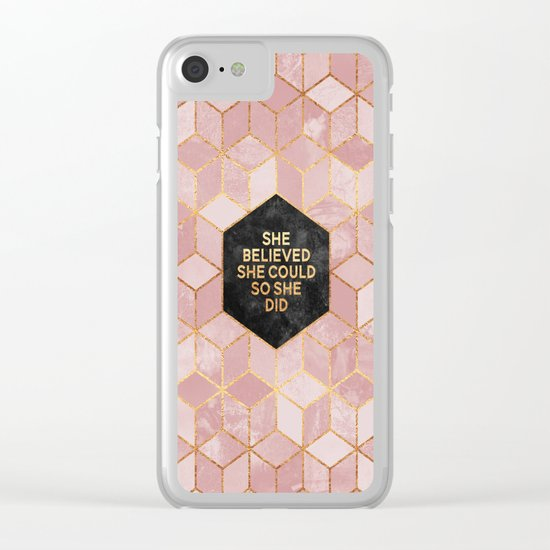 She believed she could so she did Clear iPhone Case