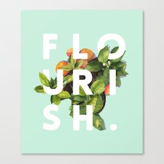 Flourish #society6 #buyart #typography #artprint Canvas Print