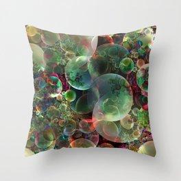 Soap Bubbles Throw Pillow