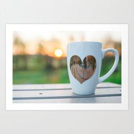 Sunrise and Coffee Art Print