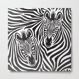 Zebras Pattern Metal Print