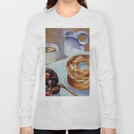 Desert, french breakfast, bonbon, coffee, sweet, food Long Sleeve T-shirt