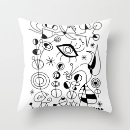 Joan Miro Peces De Colores (Colorful Fish) T Shirt, Artwork Reproduction Throw Pillow