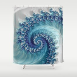 Sound of Seashell - Fractal Art Shower Curtain