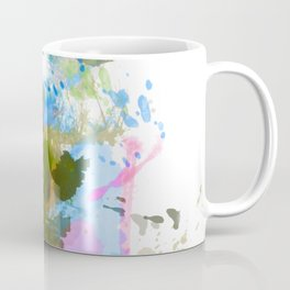Vibrant painted thistle on white Coffee Mug