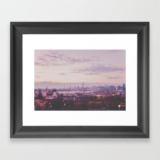 A magical evening Framed Art Print