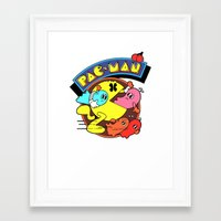 pac man Framed Art Prints featuring Pac-Man by idaspark