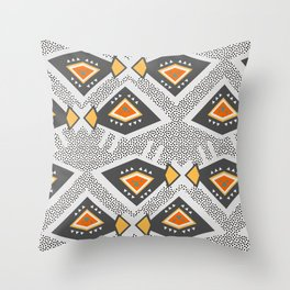 Dotted ethnic pattern Throw Pillow