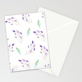 Mint and Leaves Stationery Cards
