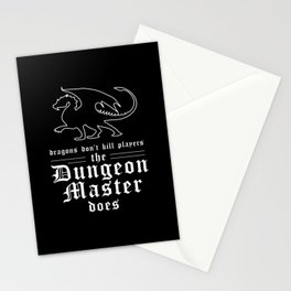Dragons Dont Kill Players Stationery Cards