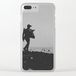 The seller black and white Clear iPhone Case