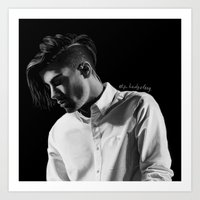 zayn Art Prints featuring zayn by otp-hedgefrog