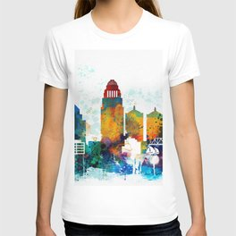 Louisville colorful watercolor skyline T-shirt