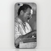 hemingway iPhone & iPod Skins featuring Ernest Hemingway  by Limitless Design