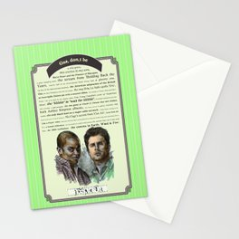 Gus, don't be - Psych Quotes Stationery Cards