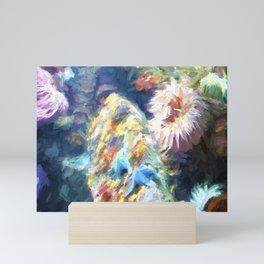 Sea Anemone and Starfish Mini Art Print