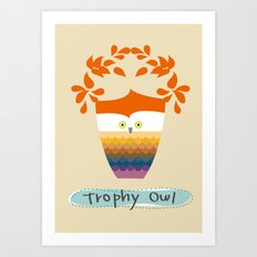 Trophy Owl Art Print