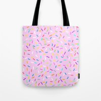 donut Tote Bags featuring Donut  by Alexandra Aguilar