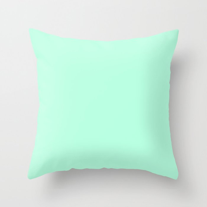 SOLID MINT Throw Pillow