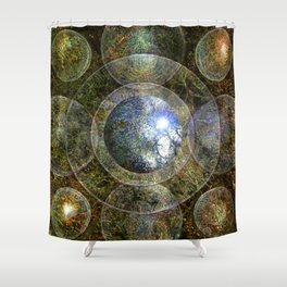 Nine Spheres to Enlightenment Shower Curtain