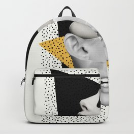 collage art / Faces Backpack
