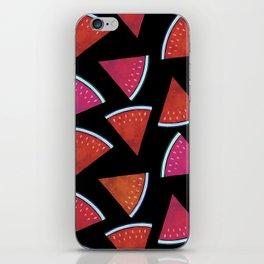 Midnight Snack - Watermelon Slices iPhone Skin