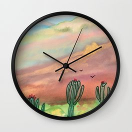 Saguaro Wall Clock