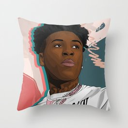 Never Broke Again YoungBoy Throw Pillow