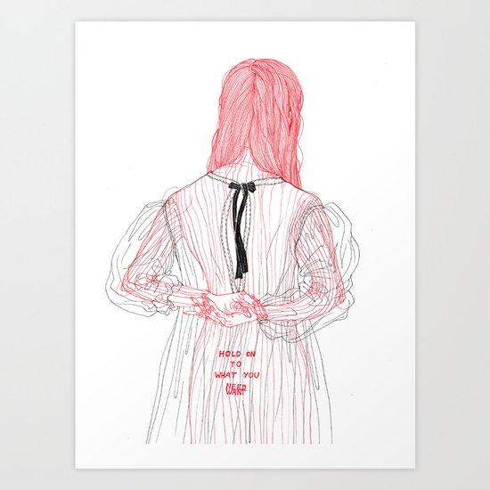 DoodleGirl Two Art Print