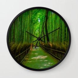 Bamboo Trail Wall Clock