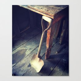 Well Worn Shovel Canvas Print