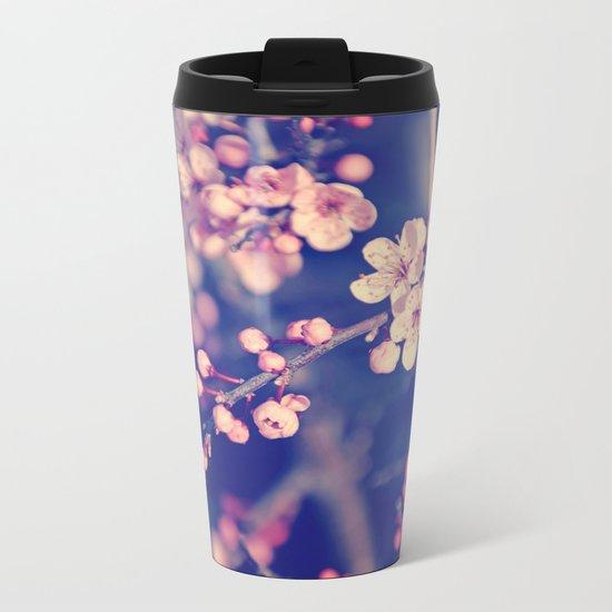 Gentle Rose Cherry Blossom Metal Travel Mug