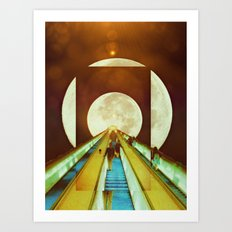 The Escalator Art Print