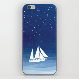 big dipper, sailboat iPhone Skin