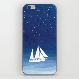 big dipper, sailboat iPhone Skin