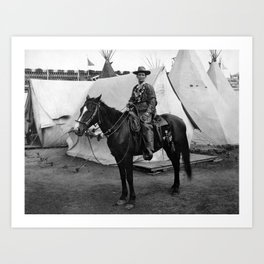 Calamity Jane on Horseback - 1901 Art Print