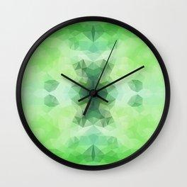 """Fresh greenery"" triangles design Wall Clock"