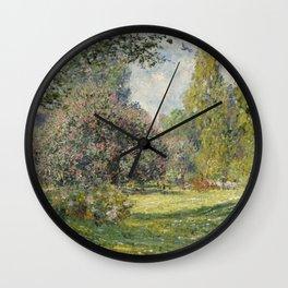 Landscape: The Parc Monceau Wall Clock