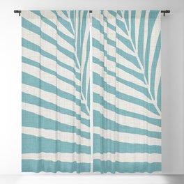 Vintage Palm Frond Blackout Curtain