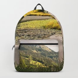 Lake in the mountains Backpack