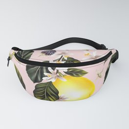 Citrus paradise. Tropical pattern with lemons Fanny Pack