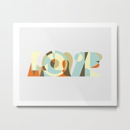 LOVE geometric art work Metal Print