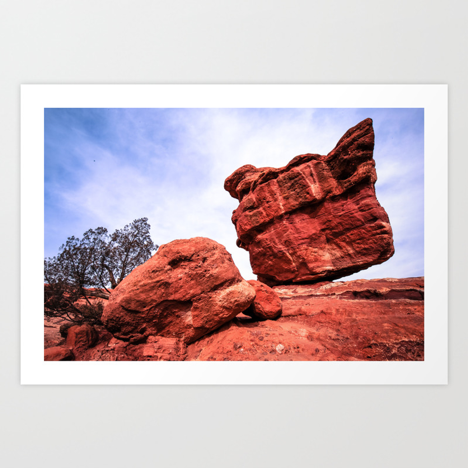 Balanced Rock Garden Of The Gods Colorado Springs Art Print
