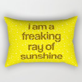 i am a freaking ray of sunshine (Sparkle Pattern) Rectangular Pillow