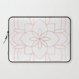 Mandala Rose Gold Pink Art Deco Laptop Sleeve