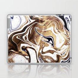 Liquid Bronze and Marble Laptop & iPad Skin