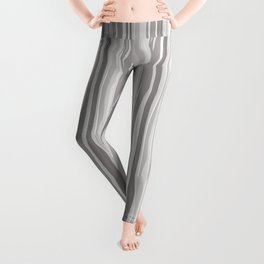 Slate Violet Gray SW9155 Vertical Grunge Abstract Line Pattern Leggings