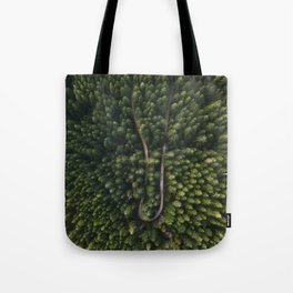 Trees From Above Tote Bag