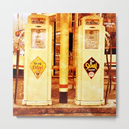 Vintage Gas Pumps :) Metal Print